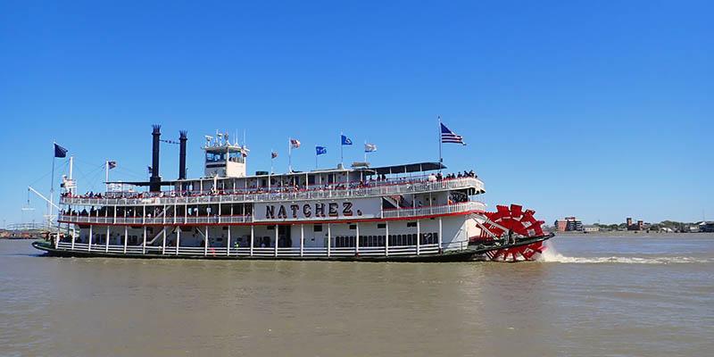 Barco de vapor en el Mississippi