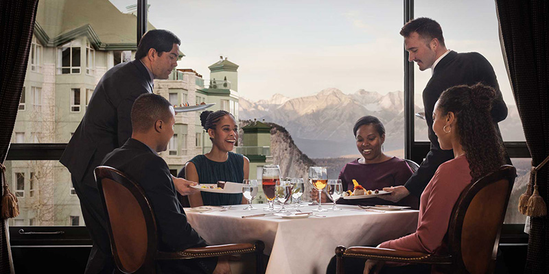 donde comer en Banff y Lake Louise