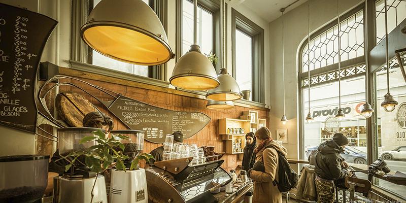 cafeterías de Montreal