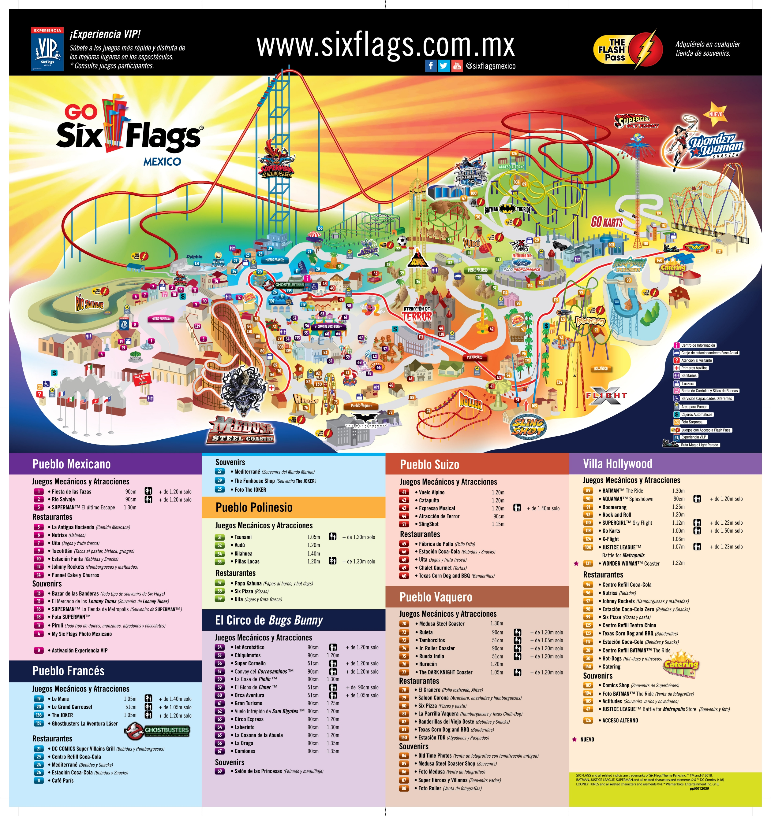 Mapa de Six Flags